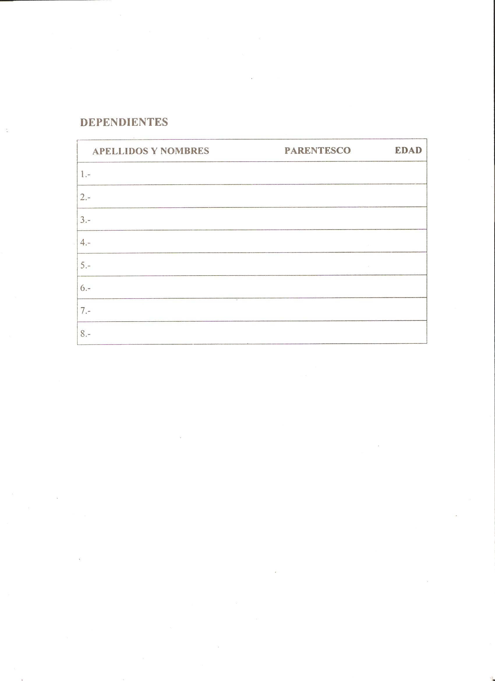 formulario solicitud visa: